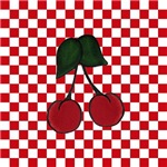 Cherries on Checkerboard 2