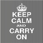 Keep Calm and Carry On Black Stripes