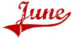 June (red vintage)