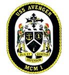 USS Avenger MCM 1 Navy Ship