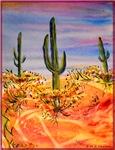 Desert landscape, southwest art