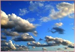 Clpods, blue sky