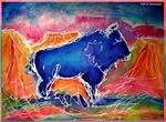 Buffalo, southwest, art,