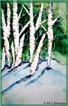 Trees, winter, art,