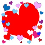 Hearts! Fun, colorful!