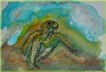 Sea turtle, wildlife art