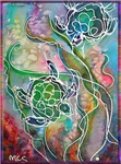 Sea turtles, wildlife art