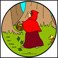 LITTLE RED RIDING HOOD ON KIDS T-SHIRTS