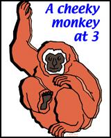 MONKEYS FOR AGE 3