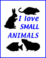 I LOVE SMALL ANIMALS T-SHIRTS & GIFTS