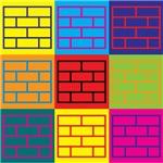 Laying Bricks Pop Art