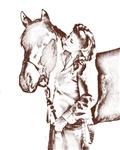 1940's Cowgirl Art Print