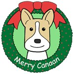 Canaan Dog Christmas Ornaments