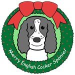 English Cocker Spaniel Christmas Ornaments