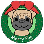 Pug Christmas Ornaments
