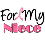 For My Niece Breast Cancer T-Shirts & Gifts