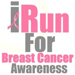I Run For Breast Cancer Awareness T-Shirts & Gifts