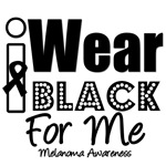 I Wear Black Ribbon For Me T-Shirts