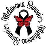 Melanoma Survivor Butterfly T-Shirts & Gifts