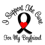 I Support The Cure Melanoma Boyfriend Shirts