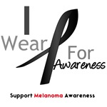 Melanoma I Wear Black For Awareness Shirts