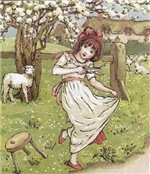 Little Miss Muffet, by Kate Greenaway