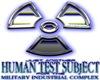 Blue 'Nuked' Human Test Subject