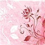 Grunge Pink Red_Floral