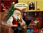 SANTA AT HOME<br>& Doberman Therapy Dog