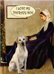 WHISTLER'S MOTHER<br>& Yellow Labrador Therapy Dog