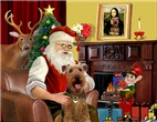 Santa at Home<br>With Airedale #3