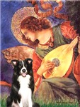 ANGEL WITH MANDOLIN<br>& Border Collie