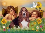 TWO ANGELS<br>& Basset Hound