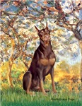 SPRING<br>& Red Doberman Pinscher