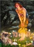 MIDSUMMER'S EVE<br>& Tibetan Spaniel (fawn)