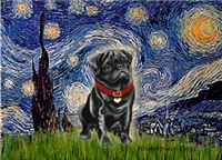 STARRY NIGHT<br>& Black Pug