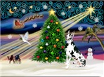 CHRISTMAS MAGIC<br>WIth a Harlequin Great Dane