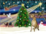 CHRISTMAS MAGIC<br>With a Fawn Great Dane (N)