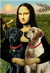 MONA LISA<br>& 2 Labrador Retrievers