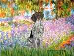 GARDEN AT GIVERNEY<br>German Short Haired Pointer