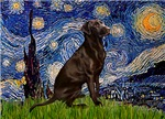 STARRY NIGHT<br>& Chocolate Labrador Retriever