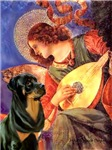 ANGEL WITH MANDOLIN<br>& Rottweiler #5