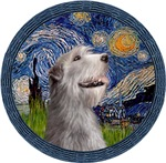 STARRY NIGHT (WREATH)<br>& Irish Wolfhound
