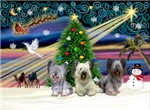 CHRISTMAS MAGIC<br>& 3 Skye Terriers