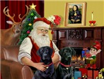 SANTA AT HOME<br>& 2 black Labradors