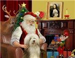 SANTA AT HOME<br>& Bearded Collie