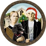 AMERICAN GOTHIC CHRISTMAS<br>& Standard Poodle