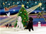 CHRISTMAS MAGIC<br>& 2 Standard Poodles