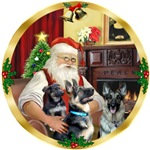 SANTA AT HOME<br>& 2 German Shepherds