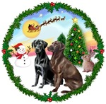 SANTA'S TAKE OFF #1<br>& 2 Labrador Retrievers